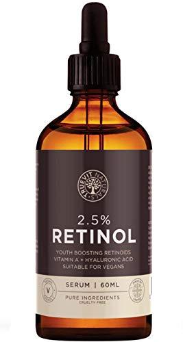 Suero de Retinol de Alta Potencia - 2.5% de Suero Facial Vegano de Retinol con Acido Hialurónico -...