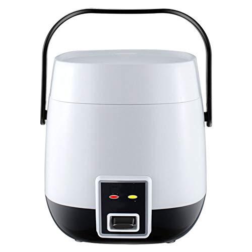 Mini Cuociriso Multi Cooker Pentola Interna Antiaderente Cottura Automatica Pulizia Facile Protezione dalle Alte Temperature - per 1-2 Persone Usano,Bianca