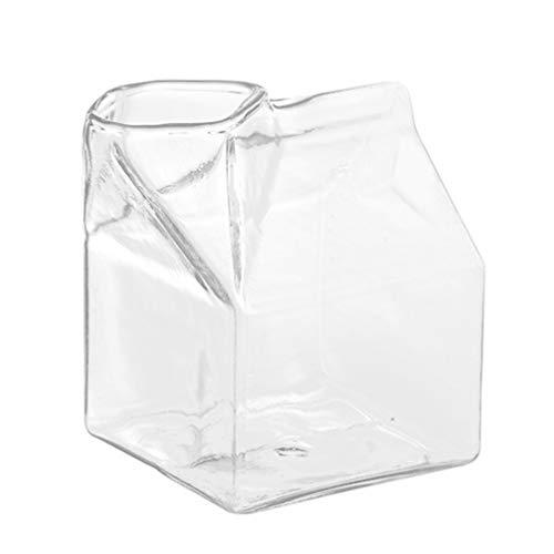 YARNOW Milchkrug Milchkanne Glaskanne Wasserkrug Saftkrug Glas Karaffe Saft Krug Wasserkanne Transparent Wasserkaraffe für Kühlschrank Milch Saft Joghurt Smoothie