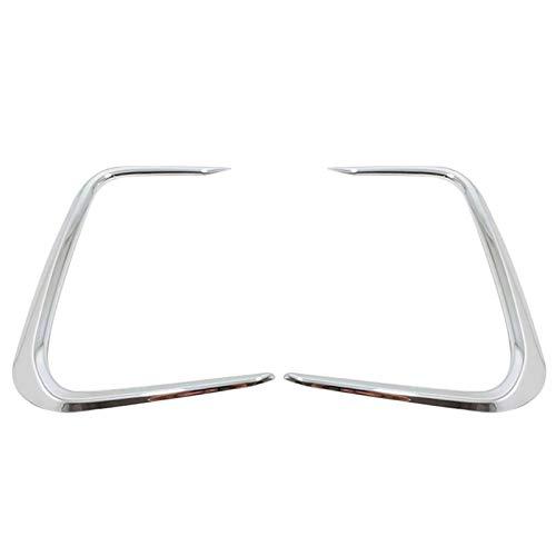 YINGGUICHENG SHOP Frontlichter Lichtlampe Rahmenabdeckung Zierleiste für Toyota Corolla E210 Prestige Altis 2019 2020 Helles Silber (Color : Silver)
