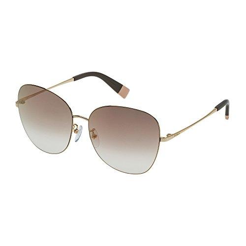 Furla Damen SFU145-300G Sonnenbrille, Gold, 58/15/140