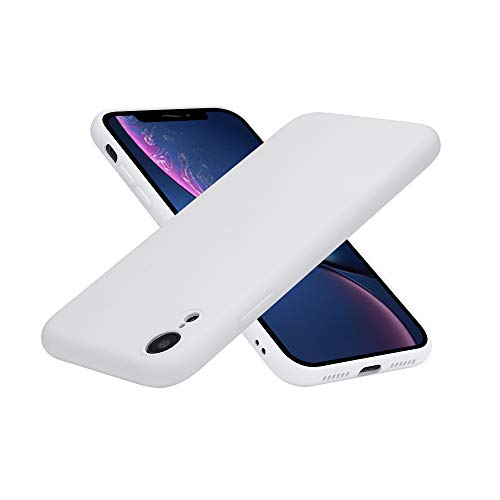 iPhone XR Silicone Case, Full Body Drop Shockproof Protection Matte Case[Screen & Camera Protection] Gel Rubber Phone Case with Soft Cushion[Comfortable Grip] for Apple iPhone XR 2018 6.1 inch - White