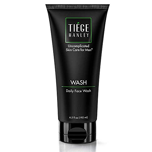 Tiege Hanley Daily Face Wash for Men (WASH)   Gently Removes Dirt, Grime & Excess Oil   Feel Cleansed & Refreshed   Fragrance Free   Dry or Sensitive Skin   6.5 Ounces