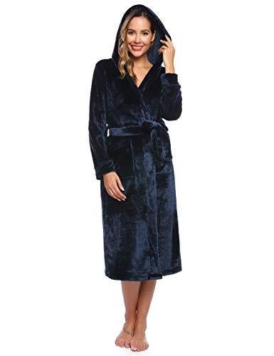 Abollria Dames Heren Capuchon Dressing Jurk Zachte Pluche Badjas voor Vrouwen Mannen Housecoat Loungewear Badjas