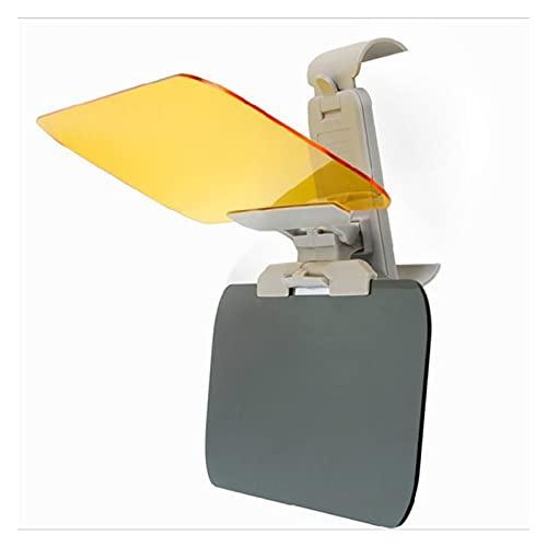 CHAOCHAO ZHANGERDIAN - Parasol para coche 2 en 1 HD antiluz solar deslumbrante gafas de visión nocturna para conducción con espejo plegable para visera transparente (color 1 unidad)