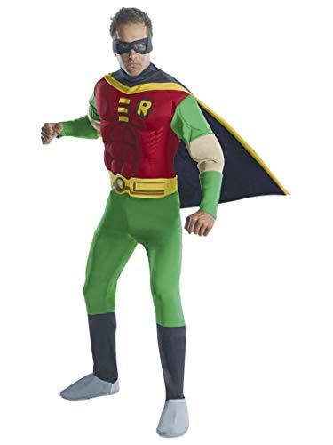 Batman - Disfraz de Robin musculoso para hombre, Talla S adulto (Rubie's 888078-S)