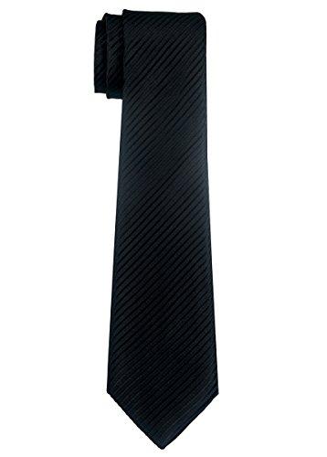 Retreez Jungen Gewebte Krawatte Textur Gestreifte - 8-10 Jahre - schwarz