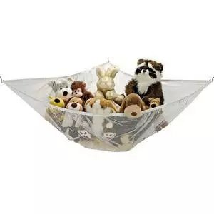 Fadi Kids Polyester Toy Hammock for Stuffed Animals and Toys (White) - 2 Pack