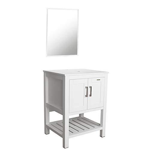 "eclife 24"" White Bathroom Vanity Cabinet Modern Pedestal Cabinet Set Pedestal Stand -"
