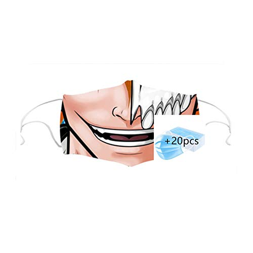 fashioncase Best Bandanas Face Mask - Unisex Neck Gaiter for Dust Outdoors Festivals Sports +20pcs