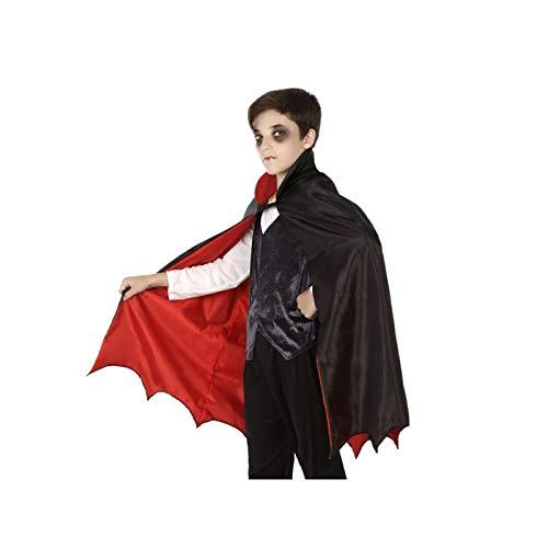 Atosa Cape Noir Rouge Vampire Enfant