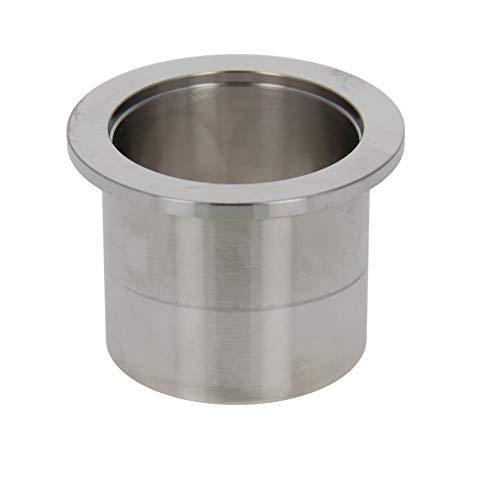 Férula de tubo de vacío Acero inoxidable 304 Brida de 55 mm Diámetro Soldadura de tubo de vacío en férula 1PCS 40mm Longitud