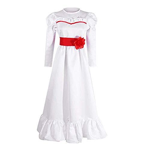 Rcinodhilary Annabelle Kostüm Halloween Cosplay Besessen Mörder Böse Puppe Kostüm Kostüm Outfit für Mädchen Frauen