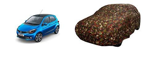NAVAM Brand - Car Body Cover Water Resistant for Tata Tiago xz Plus (Brown Jungle - Color)
