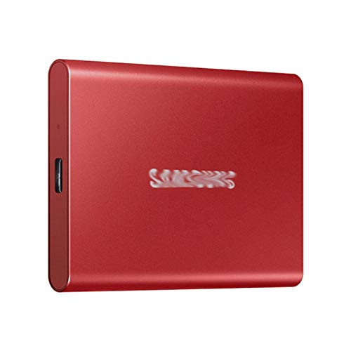 External hard drive For Samsung T7 Portable SSD NVME 500GB 1TB 2TB External Solid State Drive Type-C USB 3.2 Gen2 And For Laptop (Color : Red, SSD Capacity : 2TB)
