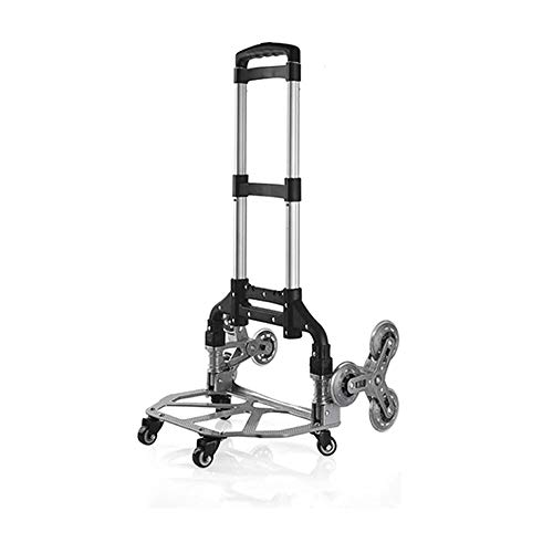 XINTONGSPP Folding Trolley, Portable Truck, Luggage Cart/Shopping Trailer Trolley, Household Purchase Small Trolley, Black