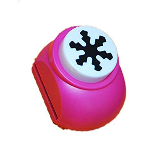 VALUEU Mini Punch Paper Punch para Forma de Copo de Nieve para niños DIY Holiday Cards