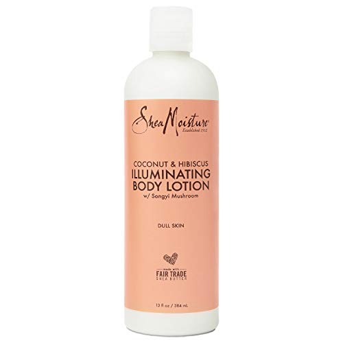 Sheamoisture Body Lotion for Dull, Dry Skin Coconut Oil and Hibiscus Illuminating Body Lotion 13 oz