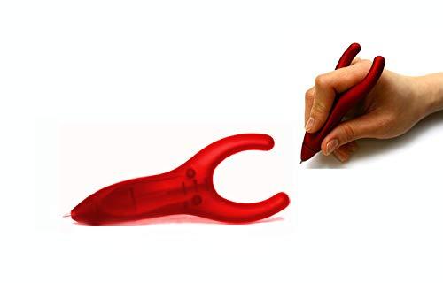 PenAgain Ergosof - Kugelschreiber mit ergonomisch rutschfestem Soft-Oberfläche-Griff (rot (gummiert))