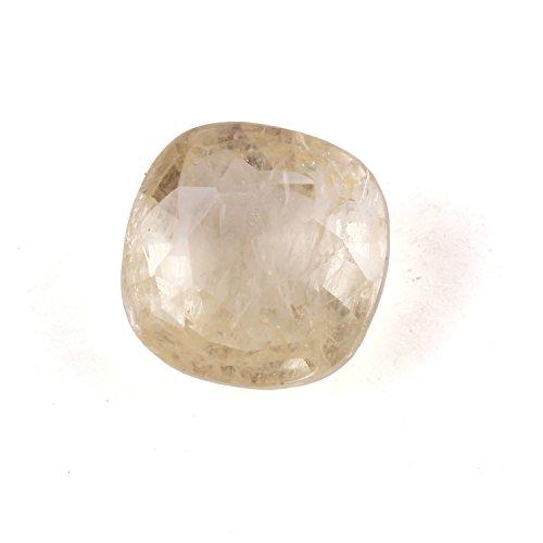 Neerupam コレクション 天然イエローサファイア 4.50カラット ファセットスクエアシェイプ 宝石用原石 占星術目的