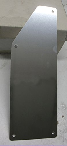 Tuning Pedana poggiapiede acier inoxydable 24 x 8,5 cm avec kit 4 vis inclus