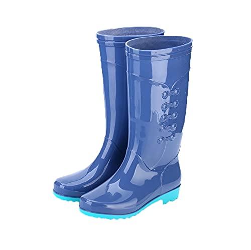 Dustpro Bottes De Pluie Mi-Mollet pour Femme Travail en Plein Air Bottes Eau en Caoutchouc Chaussures Imperméables De Jardin Courtes Et Imperméables ZB01 37