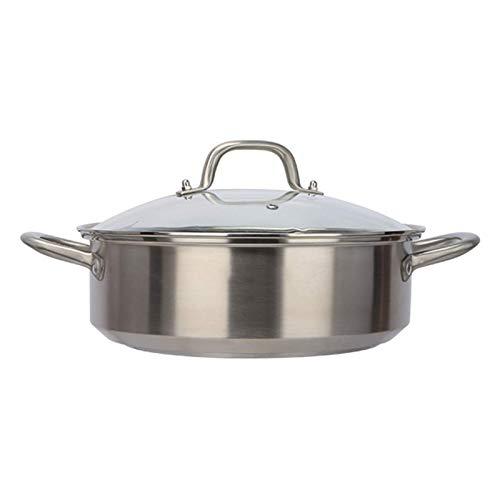 GCE Olla de Vapor Olla de Cocina de Acero Inoxidable Olla de Cocina al Vapor con Tapa Transparente Caldera de Varias Capas para cocinar al Vapor para cocinar en la Cocina de una Sola Capa 30