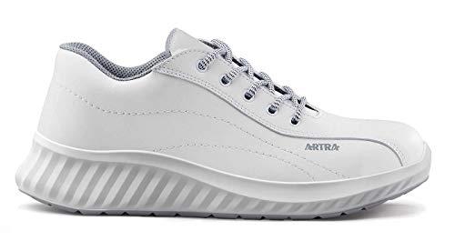 Artra Arawa 6217 weiße rutschfeste Arbeitsschuhe für Klinik, Küche, Lebensmittel Gr. 45 OHNE Stahlkappe