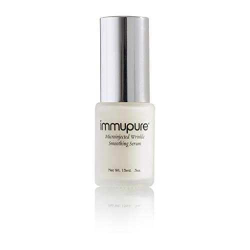 Immupure Premium Wrinkle Smoothing Serum, Award Winning Anti-Aging Formula with powers of Colostrum, Hyaluronic and Vitamin C to Quickly Repair Frown Lines, Wrinkles and Dark Spots