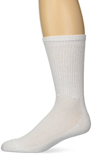 Gildan Men's Stretch Cotton Crew Socks, 12-Pack, white, Shoe Size: 6-12
