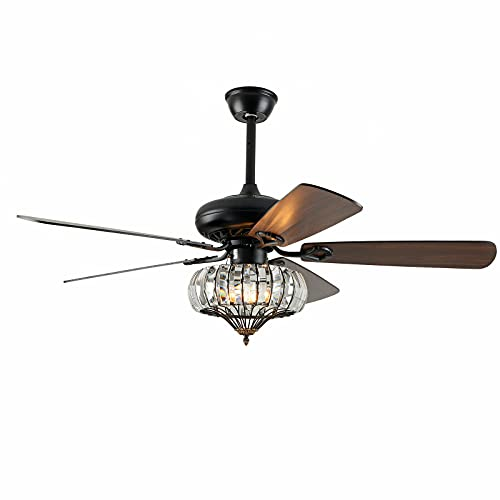 Ventilador de techo de 52 pulgadas, luz con mando a distancia, lámpara de alta calidad, 3 luces