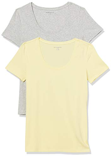 Amazon Essentials Paquete de 2 Camisetas de Manga Corta con Cuello Redondo,...