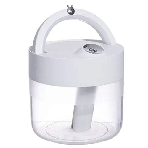 Abc Market Difusor y Humidificador de 1000ml (1L) Inalámbrico Batería de 3,000 mAh para Aromaterapia Aceites Esenciales o Sanitizante Ultrasonico con Luz Led Inteligente Ionizador Silencioso y Portátil para Espacios Ambientes Grandes como Oficina u Hogar