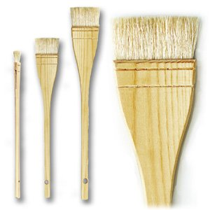 da Vinci Varnish & Priming Series 11245 Professional Hake Brush, White Goat Hair with Plainwood Handle, Size 3 (11245-3)