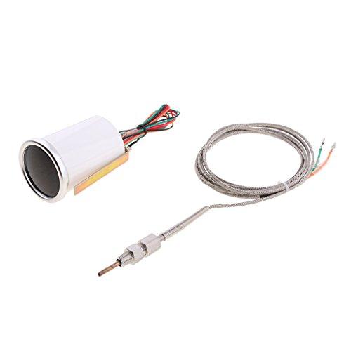 IPOTCH 1 x Auto Zusatzinstrument Abgastemperaturanzeige mit Hintergrund Beleuchtung, Aftermarket