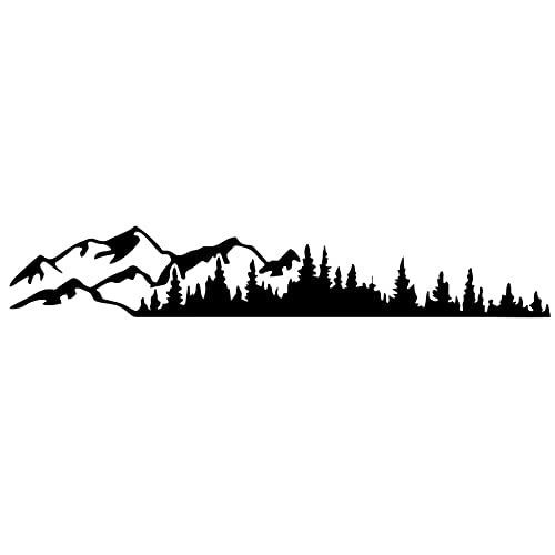 Pegatinas De Coche, Mountain Tree Car-Styling Vehículo Cuerpo Lateral Camping Autocaravana Trailer Calcomanías Pegatinas Decoración Universal Impermeable-100x17cm