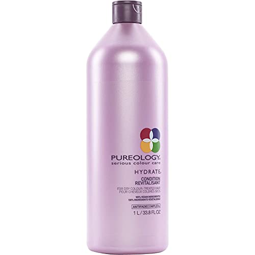 Pureology Hydrate Moisturizing Conditioner   For Medium to Thick Dry, Color Treated Hair   Sulfate-Free   Vegan   33.8 oz