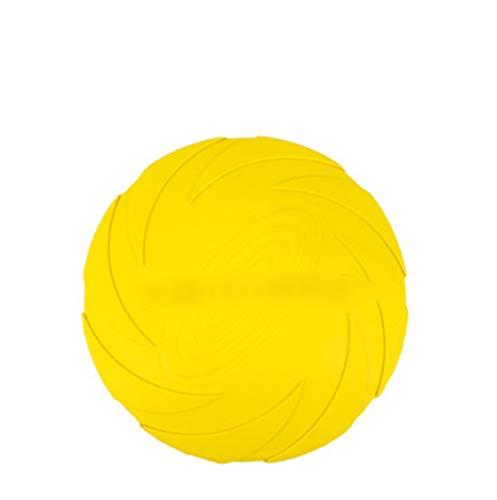 Yuncai Haustier Hunde Frisbee Bissbeständig Silikon Hund Disc Spielzeug für Ausbildung/Spielen Gelb M