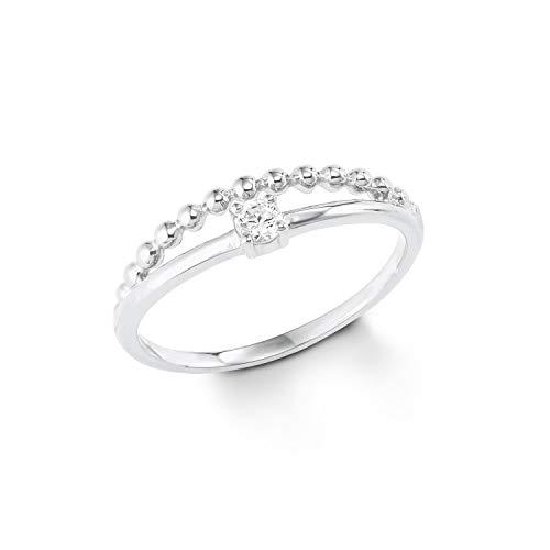 s.Oliver Damen-Ring Sterling Silber 925 Zirkonia (synth.) rhodiniert-Breite 5mm