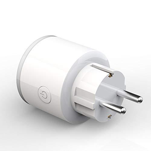 Smart Wifi-aansluiting APP Spraakbesturing Domotica Tijdschakelaar met RGB Wit EU-stekker