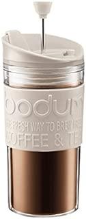 ボダムトラベルプレスセット - 白オフ余分な蓋0.35L ( 12オンス)とコーヒーメーカー Bodum Travel Press Set - Coffee Maker With Extra Lid 0.35L (12oz) Off White