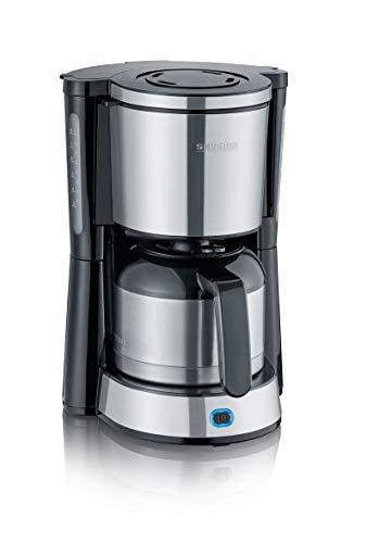 SEVERIN 4846-000 KA 4846 Kaffeemaschine TYPE, 1000, Kunststoff, 1 Liter, Edelstahl-gebürstet-schwarz
