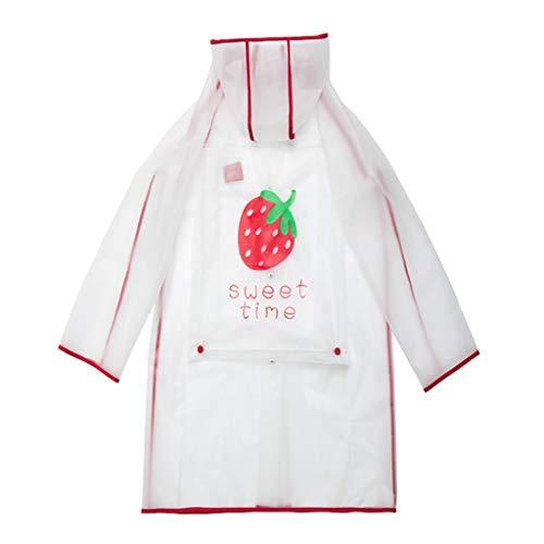 ZHANGGUOHUA Impermeable de los niños niñas Kinder Estudiante del Muchacho Largo de Todo el Cuerpo Sección Poncho de Lluvia Botas Conjunto (Color : Pink, Size : S)