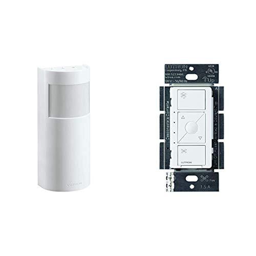 Lutron Caseta Motion Sensor with Smart Fan Speed Control | Occupancy/Vacancy | Fan for 1.5-Amp Single Ceiling Fan