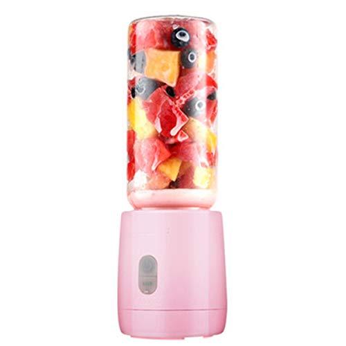 OhhGo Licuadora portátil para exprimidora de 400 ml, recargable por USB, color rosa