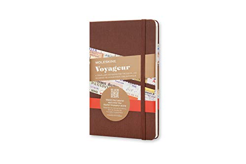 "Price comparison product image Moleskine Voyageur Notebook,  Hard Cover,  Medium (4.5"" x 7"") Nutmeg Brown"