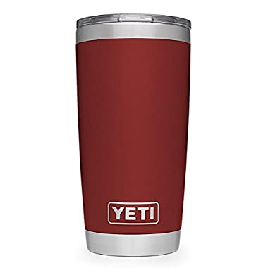 YETI Rambler 20 oz Stainless Steel Vacuum Insulated Tumbler, Brick Red