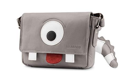 LEABAGS Kids Kindertasche Leder Umhängetasche für Mädchen und Jungen - Fred - Grau