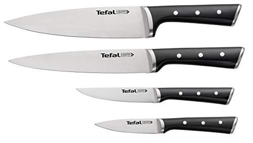 Tefal Ice Force Set 4 Messer: Tranchiermesser 9 cm + Kochmesser 20 cm + Allzweckmesser 11 cm + Rührmesser 20 cm K2324S74
