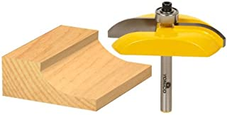 Yonico 12133q Raised Panel Router Bit with Carbide Tipped Cove 1/4-Inch Shank